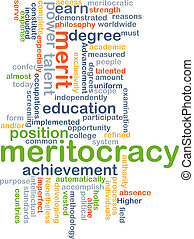Meritocracy background concept