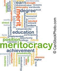 Meritocracy background concept