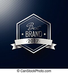merk, etiket, realistisch, luxe, jaar, zilver, best