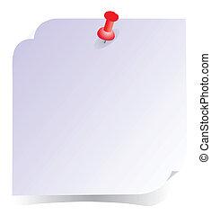 merk papier op