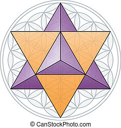 Merkaba And Flower of Life - The Merkaba, the double...