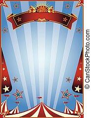 merken aanplakbiljet, circus