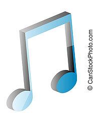 merkzettel, musikalisches, 3d