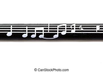 merkzettel, muster, musik