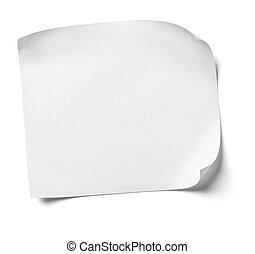 merkzettel, weißes, papier, buero, geschaeftswelt