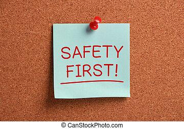 merkzettel, zuerst, sicherheit, klebrig