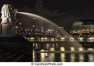 merlion, 中に, シンガポール
