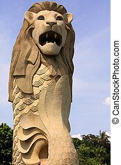 Merlion - Isle Sentosa, Singapore; photographed in october...