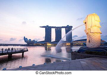 merlion, singapur