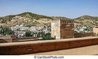 Merlon and wall in Granada