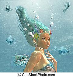mermaid - 3d render