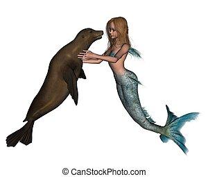 Mermaid and Seal