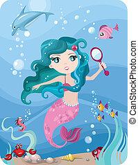 mermaid - vector illustration of a mermaid