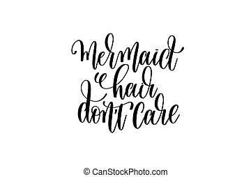 Ocean Child Hand Lettering Positive Quote About Mermaid To Overlay