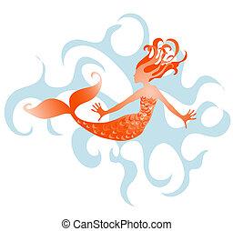 Mermaid illustration.