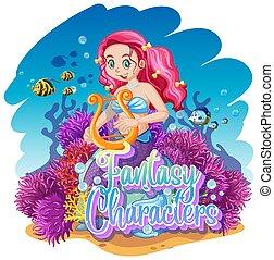 Mermaid in the underwater world