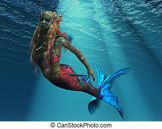 Mermaid of the Ocean - The sea holds many beautiful...