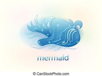 Mermaid on the sea