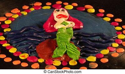 mermaid play-do art