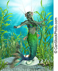 Mermaid Realms - The Mermaid is a legendary aquatic creature...