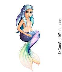 mermaid, vrijstaand