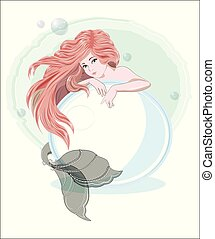 mermaid with a pearl