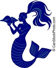 Mermaid with conch