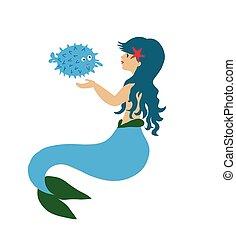 Mermaid with fish