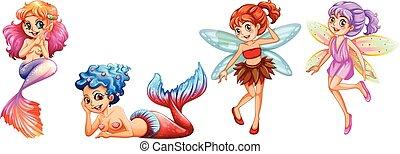 mermaids, en, elfjes