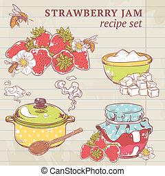 mermelada fresa, ingredientes