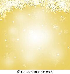merry, abstrakt, baggrund, gul, jul