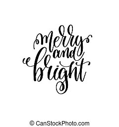 merry and bright hand lettering positive quote to christmas...