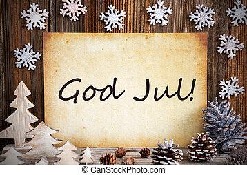 merry, betyder, gamle, jul, dekoration, gud, avis, jul