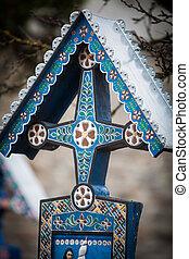 Merry Cemetery in Sapanta, Romania.