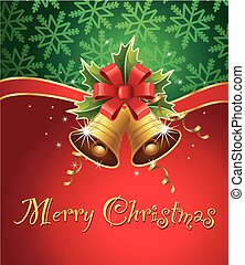 merry chrismas background with traditional decorations - ...
