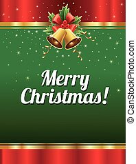 merry chrismas background with traditional ornaments - merry...