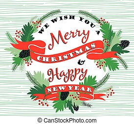 Merry Chrismas background with Typography. - Merry Christmas...