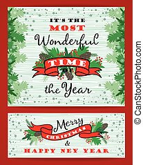 Merry Chrismas background with Typography. Vector ...