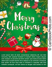 Merry Chrismas sale with Object Top View poster