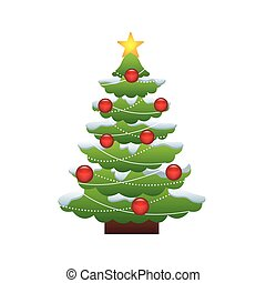 merry chrismas tree icon illustration design vector