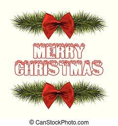 merry christmas, červené šaty lem, a, pastvina