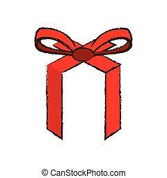 merry christmas, červené šaty lem, poklona, podoba