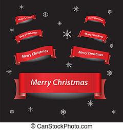 merry christmas, červené šaty lem, standarta, eps10