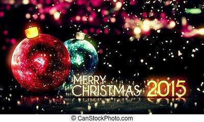 Merry Christmas 2015 Night Bokeh 3D