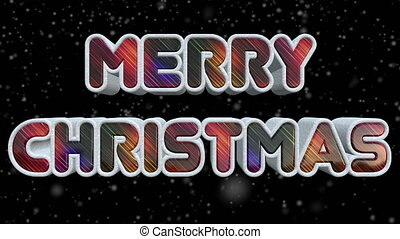 Merry Christmas 3D Shiny And Colorful Text