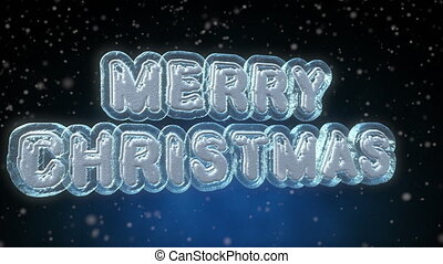 Merry Christmas 3D Text Looping Animation