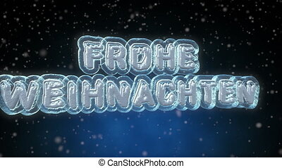 Merry Christmas 3D Text Looping Animation in German Language