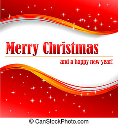 Merry Christmas and a happy new year! - Abstract vector...