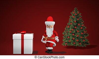 Merry Christmas and Happy New Year 2019 animation. Santa...