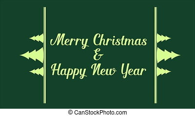 Merry Christmas and Happy New Year animation background